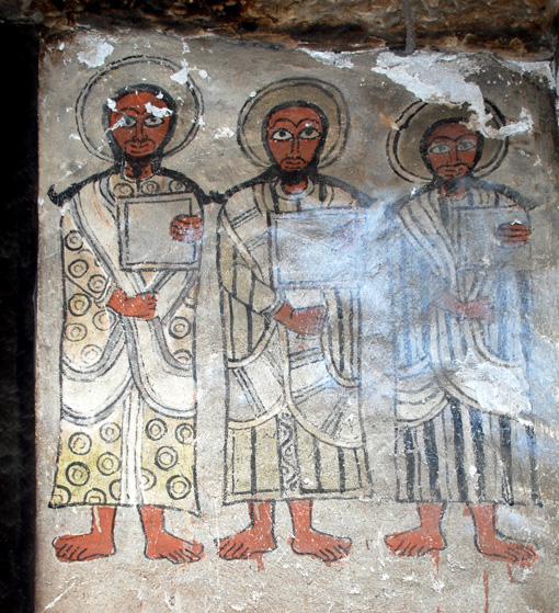 Något skadad, Three Saints. Upper right mural, east wall, northern aisle. Photo Lars Gerdmar